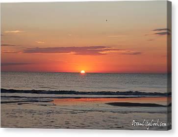 Dawn's Orange Hues Canvas Print by Robert Banach