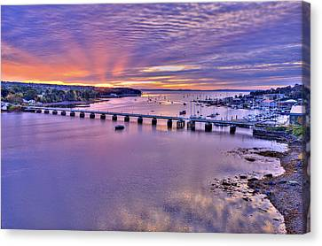 Dawns Ray Over Belfast Maine Canvas Print