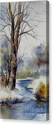 Misty Winter Wood Canvas Print