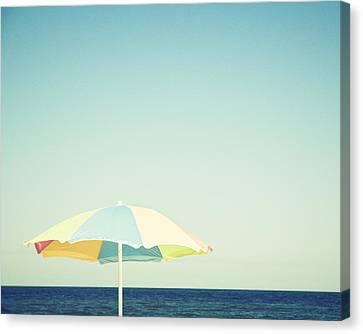 Day At The Beach Canvas Print by Carolyn Cochrane