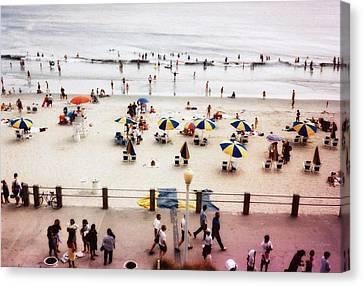 Day At The Beach Canvas Print by Deborah  Crew-Johnson