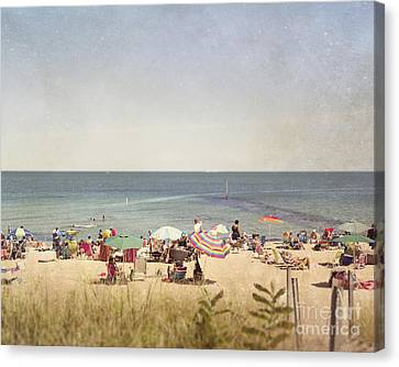 Day At The Beach Canvas Print by Jillian Audrey Photography
