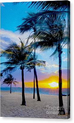 Caribbean Canvas Print - Day At The Beach by Jon Neidert