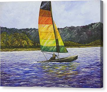 Day At The Lake Canvas Print by Mary Ann King