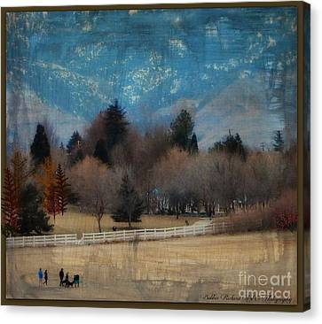 Day At The Park Painting  Canvas Print