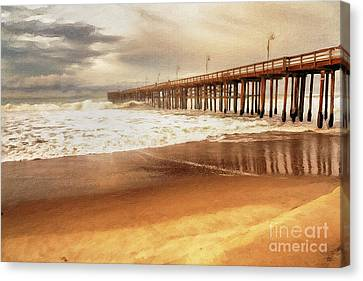 Day At The Pier Large Canvas Art, Canvas Print, Large Art, Large Wall Decor, Home Decor, Photograph Canvas Print by David Millenheft