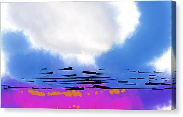 Canvas Print featuring the digital art Day Break by Kirt Tisdale