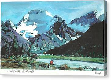 Day In The Wilderness Canvas Print by Joseph Barani
