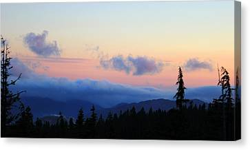Canvas Print featuring the photograph Day Is Done by Debra Kaye McKrill