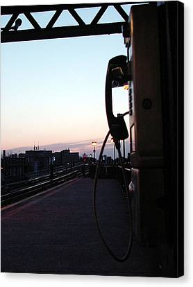day is rising on NYC subway station Canvas Print