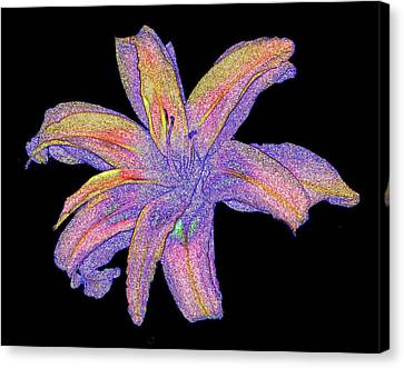 Canvas Print featuring the photograph Day Lily #3 by Jim Whalen