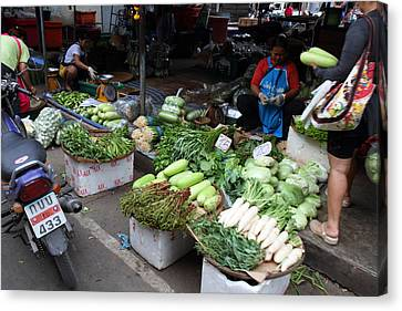 Merchant Canvas Print - Day Market - Pak Chong Thailand - 01138 by DC Photographer