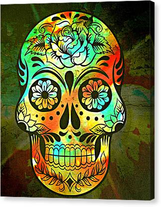 Day Of The Dead Canvas Print by Ally  White
