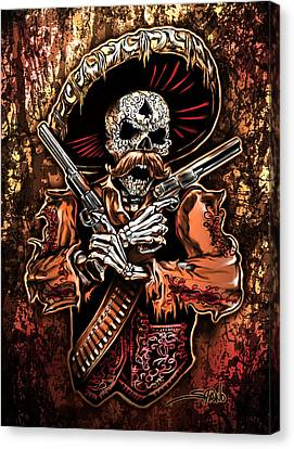 Day Of The Dead Gunslinger Canvas Print by Michael Spano