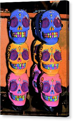 Day Of The Dead Ink Canvas Print