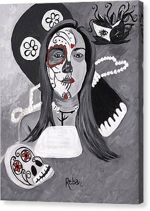 Day Of The Dead Canvas Print by Reba Baptist