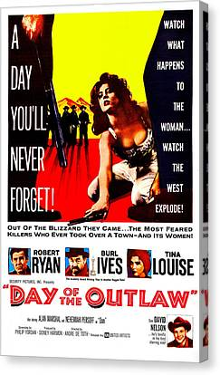 Day Of The Outlaw, Us Poster, Tina Canvas Print by Everett
