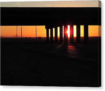 Daybreak Bridge Canvas Print