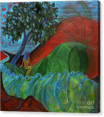 Canvas Print featuring the painting Uncertain Journey by Elizabeth Fontaine-Barr