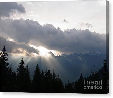 Daybreak Over Lepontine Alps Canvas Print by Agnieszka Ledwon