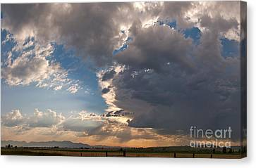 Daybreak Panorama Canvas Print by Charles Kozierok