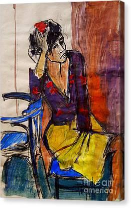 Daydream - Pia #7 - Figure Series Canvas Print by Mona Edulesco