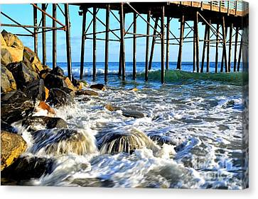 Daydreaming At The Pier Canvas Print
