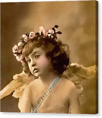 Daydreaming Cupid Canvas Print by Lesa Fine