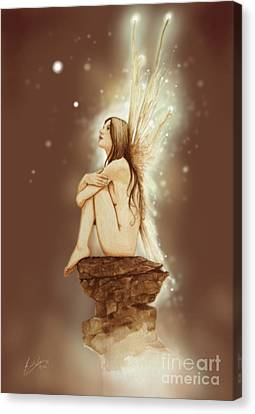 Daydreaming Faerie Canvas Print by John Silver