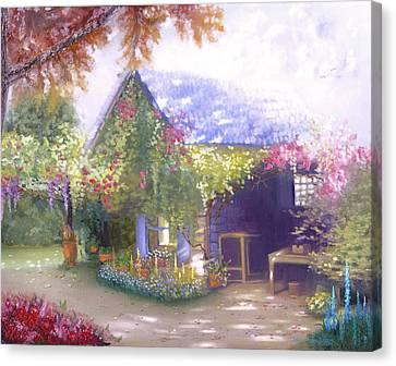 Daylesford Cottage Canvas Print