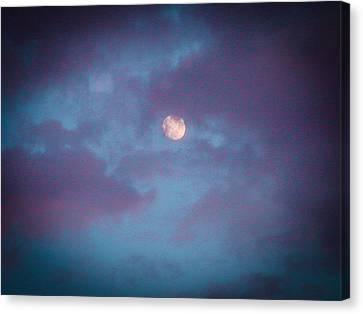 Daylight Moon Canvas Print by Robert J Andler