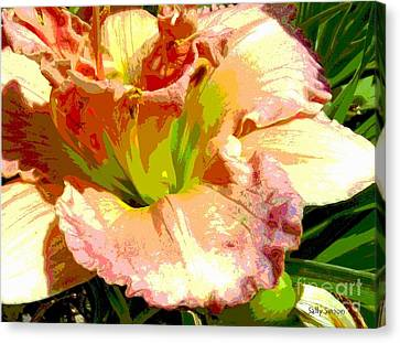 Canvas Print featuring the photograph Daylily 1 by Sally Simon