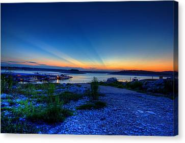 Canvas Print featuring the photograph Days End by Dave Files
