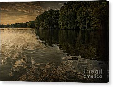 Days End On Caddo Lake Canvas Print