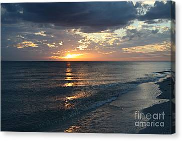Days End Over Sanibel Island Canvas Print by Christiane Schulze Art And Photography