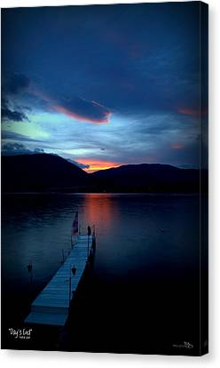 Penticton Canvas Print - Day's End - Skaha Lake 4-19-2014 by Guy Hoffman