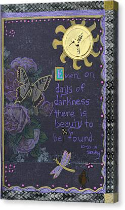 Days Of Darkness Canvas Print by Donna Blackhall