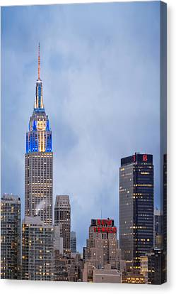 Days Of Hanukkah In New York City Canvas Print by Eduard Moldoveanu