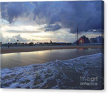 Canvas Print featuring the photograph Daytona Evening by Jeanne Forsythe