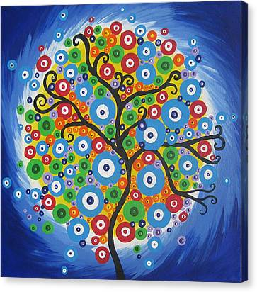 Dazzle Tree Canvas Print by Cathy Jacobs