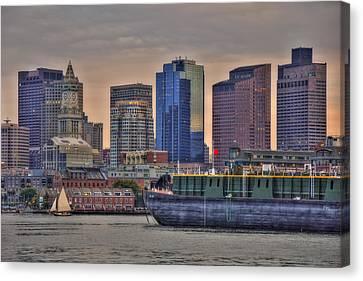 Dbl 134 Barge - Boston Canvas Print