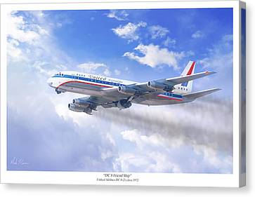 Jet Set Canvas Print - Dc 8 Friend Ship by Mark Karvon