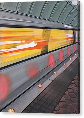 Canvas Print featuring the painting Dc Light Rail by Jude Labuszewski