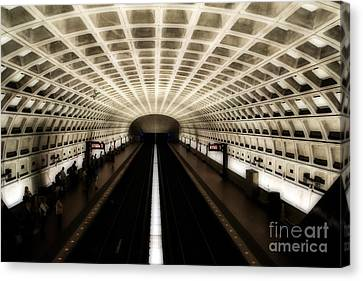 Dc Metro Canvas Print by Angela DeFrias