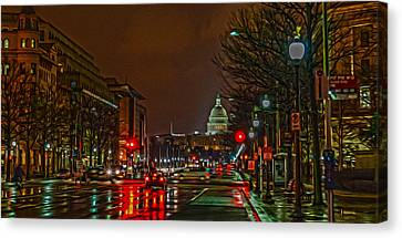 D.c. Traffic Canvas Print