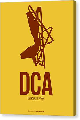 Dca Washington Airport Poster 3 Canvas Print by Naxart Studio