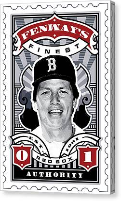Dcla Carlton Fisk Fenway's Finest Stamp Art Canvas Print