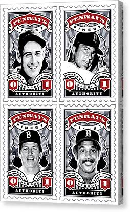 Dcla Fenway's Finest Combo Stamp Art Canvas Print by David Cook Los Angeles
