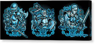 Dcla Knights In Armor Canvas Print by David Cook Los Angeles