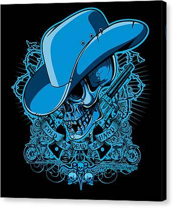 Dcla Skull Cowboy Cold Dead Hand 2 Canvas Print by David Cook Los Angeles